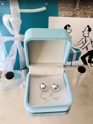 Tiffany & Co. 10mm authentic ball hardware earrings excellent condition with pouch and 925 backs for Sale in Redlands, CA