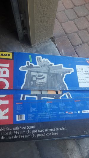 Table saw with steel stand for Sale in Tampa, FL