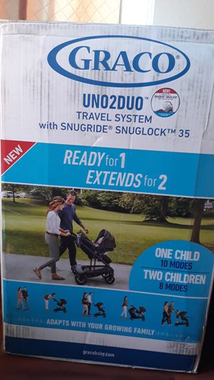 Graco uno2duo stroller and car seat never opened for Sale in Victorville, CA
