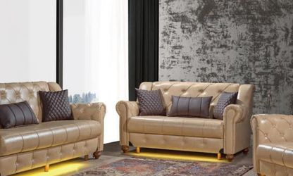 Leather Living Room Sofa Set 3pc - Delivery Available 🚚 ($39 Down Payment) for Sale in Dallas,  TX