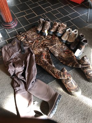 Men's 8 waders leather boots red head shoes hunting fishing for Sale in Temple, GA