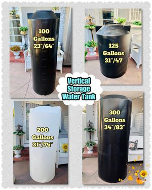 NEW... Vertical Storage Water💧Tanks 100G/125G/200G /300G☀️HYDROPONIC Tanks🔥 for Sale in Santa Ana, CA
