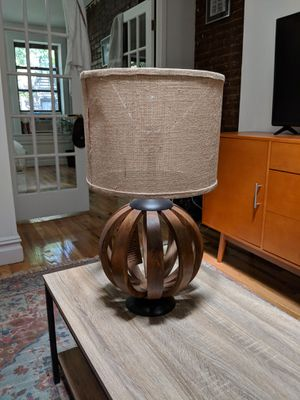 World Market table lamp and shade for Sale in New York, NY