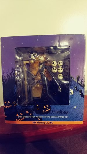 Nightmare Before Christmas Jack Skellington Action Figure Deluxe Boxed Set JUN Planning N-230 Limited Edition 1000 for Sale in Altus, OK