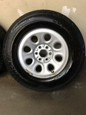 """Four 17"""" rims with tires $180 OBO for Sale in Kent, WA"""