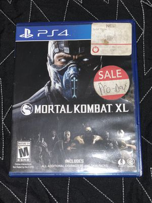 Mortal Kombat XL PS4 game for Sale in Fresno, CA