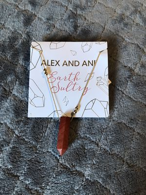 NWT Alex and Ani Red Jasper Pendant Station Bead Necklace for Sale in Palatine, IL