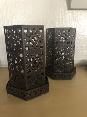Moroccan Style Candle Holders (Set of 2) for Sale in Los Angeles, CA