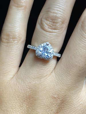 925 sterling silver CZ heart ring engagement ring size available 6 7 8 9 for Sale in Austin, TX