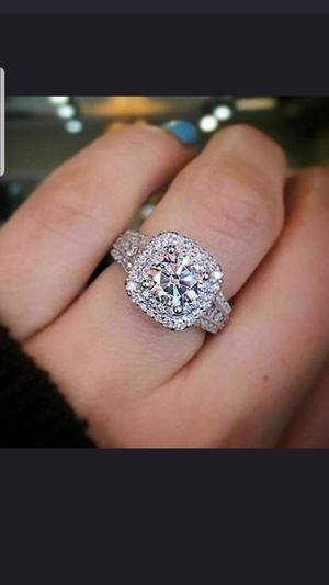 Sterling silver white sapphire ring size 7 for Sale in Baltimore, MD