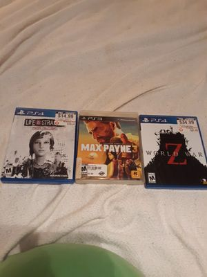 2 ps4 games and 1 ps3 game for Sale in Adger, AL