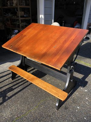 Hamilton antique drafting table military issue for Sale in Auburn, WA