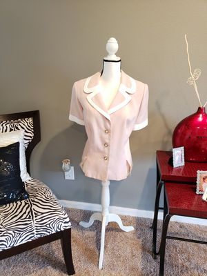 Leslie Fay Pink/white Lady's Jacket for Sale in Dundee, FL