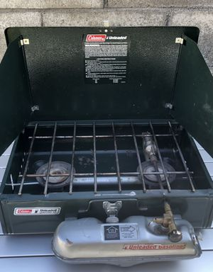 Coleman Unleaded Fuel Campstove 2 burner 424 1991 for Sale in Mission Viejo, CA