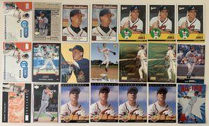 21 Chipper Jones Baseball Cards Atlanta Braves for Sale in Brea, CA