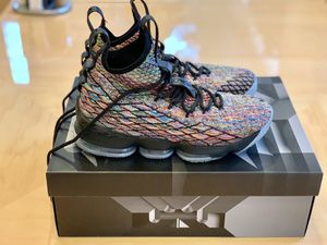 (Used) Nike LeBron 15 Fruity Pebbles/Blk (Size 9.5) for Sale in Springfield, VA