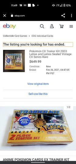 Pokemon EX Trainer Kit 2003 Latias and Latios Sealed Vintage EX Series Rare for Sale in Denver, CO