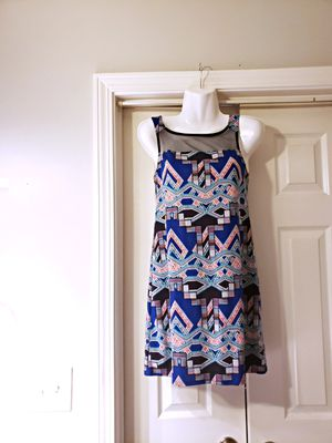 FAIRLY NEW XHILARATION DRESS BLUE WITH BOW ON BACK SIZE XS for Sale in Nashville, TN