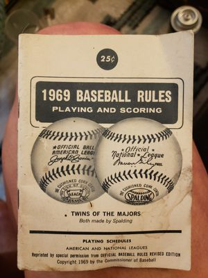 1969 Rules of Baseball for Sale in Mount Crawford, VA