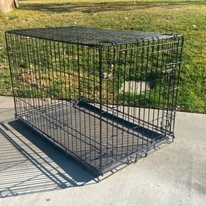 Dog Crate Kennel Metal Collapsible for Sale in Calimesa, CA