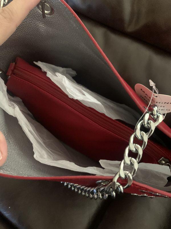 Women shoulder handbag tote red new never used