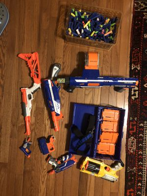 Nerf guns with lots of ammo for Sale in Decatur, GA