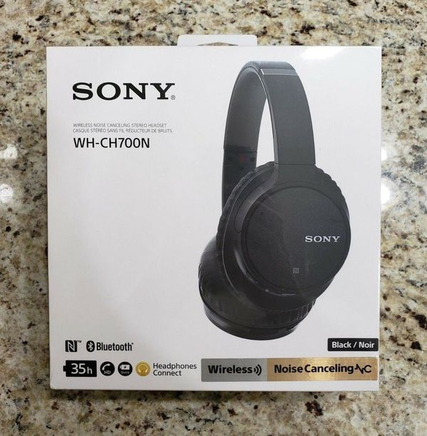Sony WH-CH700N Wireless Bluetooth Noise Canceling Over the Ear Headphones with Alexa Voice Control – Black
