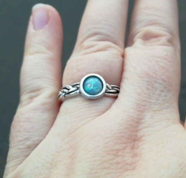 Fire Opal Ring for Women in 925 Sterling Silver