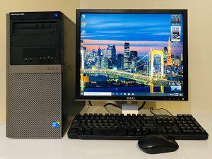 "DELL Quad Core I5@3,2GHz, Dual Display Desktop Computer VGA/DP. 500GB HDD, 4GB RAM, HD Graphics, 10 USB Port, DVD, 19"" DELL Monit/Keyb/Mou, Win10 Pro for Sale in Davie, FL"