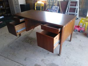 Desk, file cabinets, ink jet pro printer, shelves. for Sale in Florence, CO