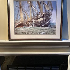 Ship Picture, Nautical Decor Beach Sailboat Sailing Maritime for Sale in Rumson, NJ