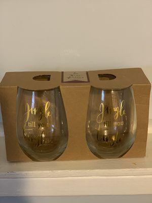 2 wine glasses for Sale in Bloomfield, NJ