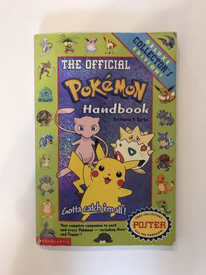 The Official Pokemon Handbook - Deluxe Collector's Edition (1999 Edition) for Sale in Pinole, CA