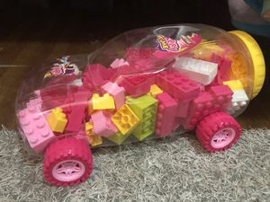 Legos in a car shape container for Sale in Los Angeles, CA