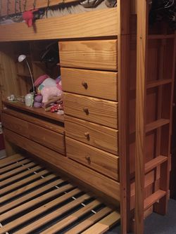 Twin Bunk/trundle Bed (no Mattresses ) for Sale in Lincoln,  RI