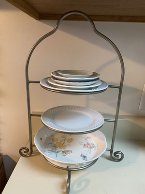 3 Tier Silver Serving Tray for Sale in Los Angeles, CA