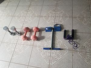 Set of weights and for Sale in Houston, TX
