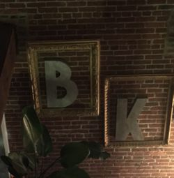 """25inch tall metal letters """"B"""" and """"K"""" for Sale in Brooklyn,  NY"""