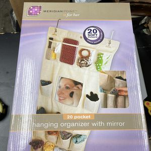 Over Door Hanging Organizer With Mirror for Sale in Springfield, PA