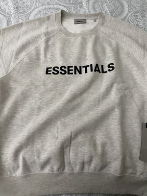 FEAR OF GOD ESSENTIALS 3D Silicon Applique Crewneck Oatmeal Heather XL for Sale in Silver Spring, MD