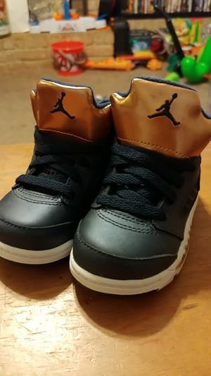 0db41b16f0db77 Nike Air Jordan 5 Retro BT SZ 5C Obsidian White Bronze 440890-416 for Sale