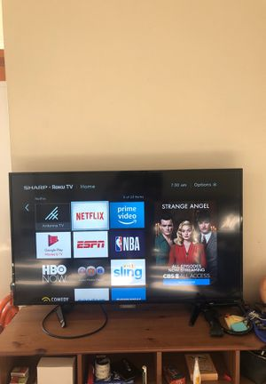 40 inch sharp tv with Roku. Great condition! for Sale in Seattle, WA