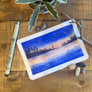 Original watercolor art + postcard . Christmas gifts for Sale in Medford, MA