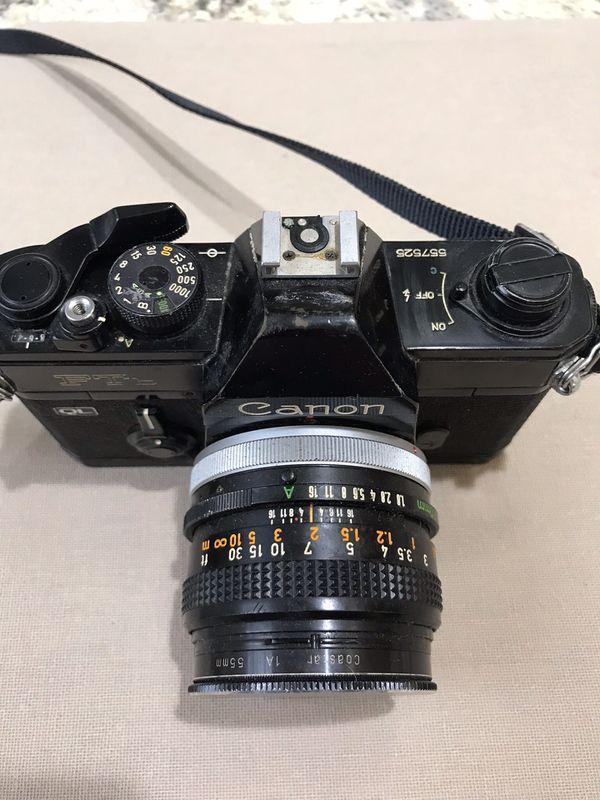 CanonFTb QL Black 35mm SLR film Camera