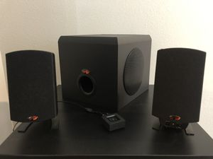 Klipsch Pro media 2.1 speakers with Bluetooth adapter included for Sale in Kyle, TX