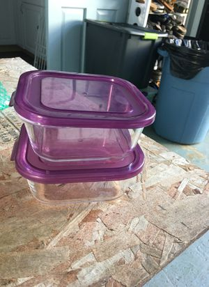 Glass storage containers 2...microwaveable for Sale in Kaneohe, HI