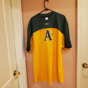 Oakland A's mesh T-shirt Jersey Reebok. New, no tags. for Sale in Cupertino, CA