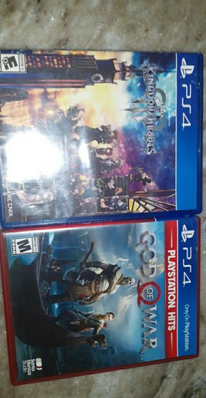 Kingdom Hearts 3 and God of War for Sale in Victorville, CA