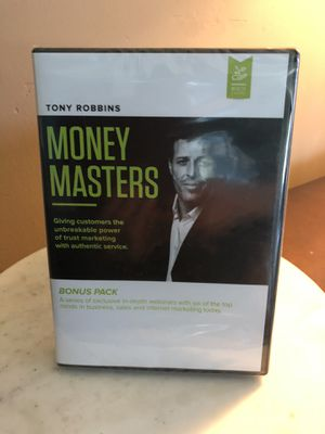 Tony Robbins Money Masters Bonus Pack Webinars DVDs for Sale in Oakland, CA