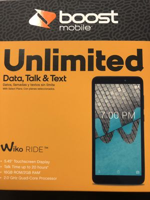 Wiko Ride from Boost Mobile at 2426 Sheridan St, Hollywood Florida 33020 for Sale in Hollywood, FL